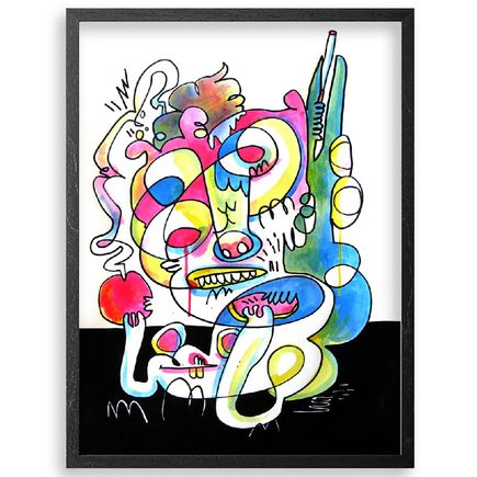 Jon Burgerman Original Art - A Whole Heap Of Trouble - Original Artwork
