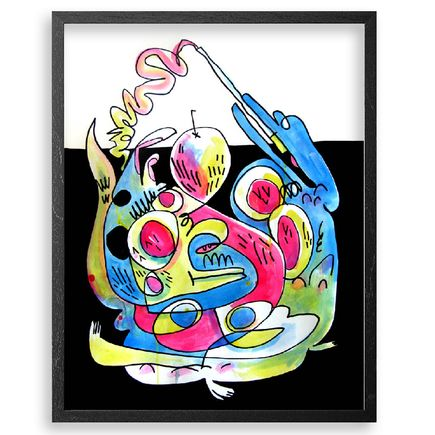 Jon Burgerman Original Art - Circular Motion Of Mush - Original Artwork