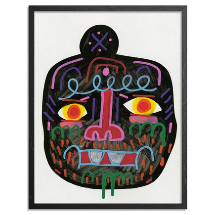 Jon Burgerman Original Art - Coal Head - Original Artwork