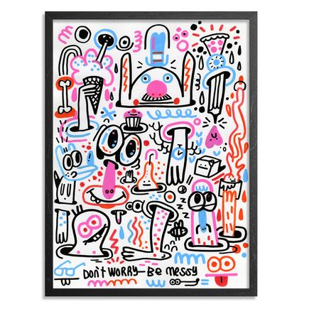 Jon Burgerman Original Art - Don't Worry - Be Messy - Original Artwork