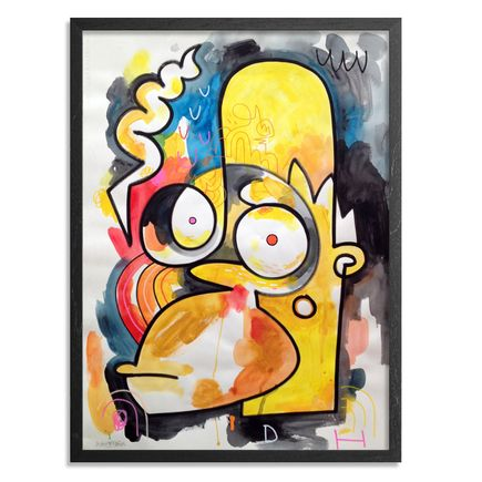 Jon Burgerman Original Art - Homer - Original Artwork