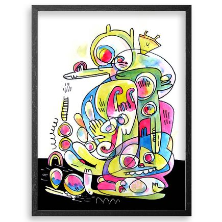 Jon Burgerman Original Art - Mash Up - Original Artwork
