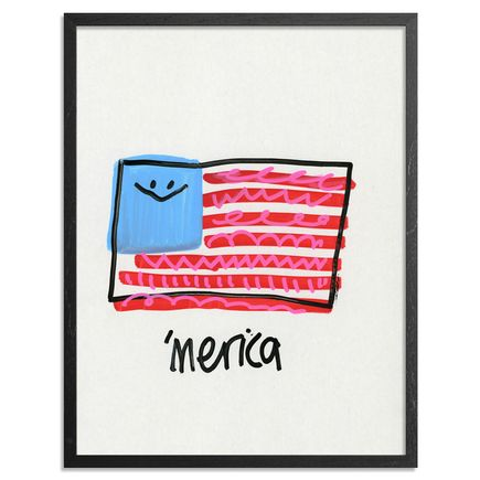 Jon Burgerman Original Art - 'Merica - Original Artwork
