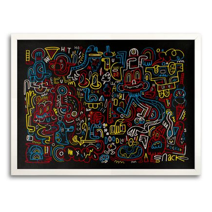Jon Burgerman Art - Nightlines - Framed