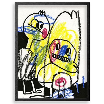 Jon Burgerman Original Art - Crayons - Original Artwork