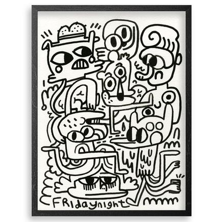 Jon Burgerman Original Art - Friday Nights - Original Artwork