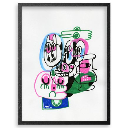 Jon Burgerman Original Art - Friends - Original Artwork