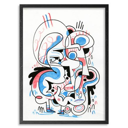 Jon Burgerman Original Art - Toothpaste - Original Artwork