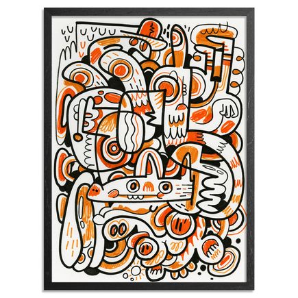 Jon Burgerman Original Art - Orange Compostion - Original Artwork