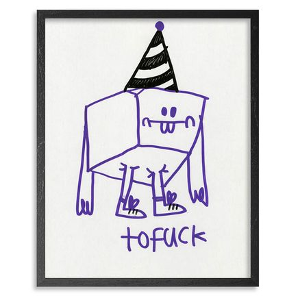 Jon Burgerman Original Art - Tofuck - Original Artwork