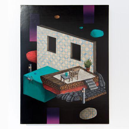 Jonny Alexander Original Art - Lounging Domestic