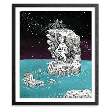 Jonny Alexander Original Art - No Man Is But Can Be On, Reaching For His Home