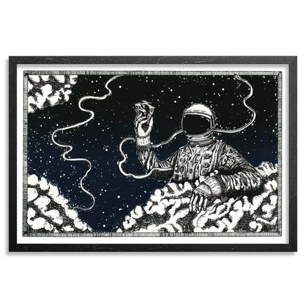 Jonny Alexander Art Print - We're All Home, Floating Around On This Piece Of Stone - The Greys Edition