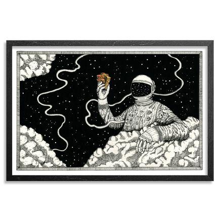 Jonny Alexander Original Art - We're All Home, Floating Around On This Piece Of Stone - Original Artwork