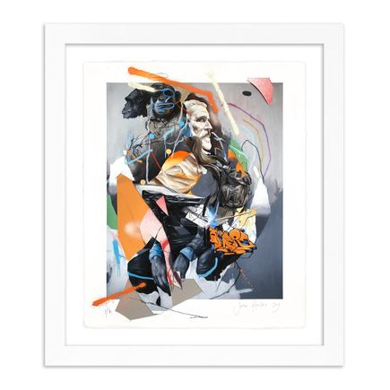 Joram Roukes Art Print - Brown Duffle Bag - Hand-Embellished Edition