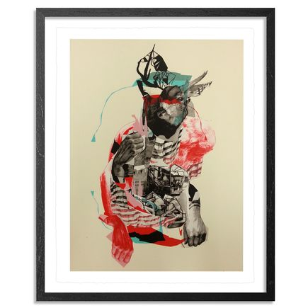 Joram Roukes Art - Buckwild - Hand-Embellished Edition - Framed