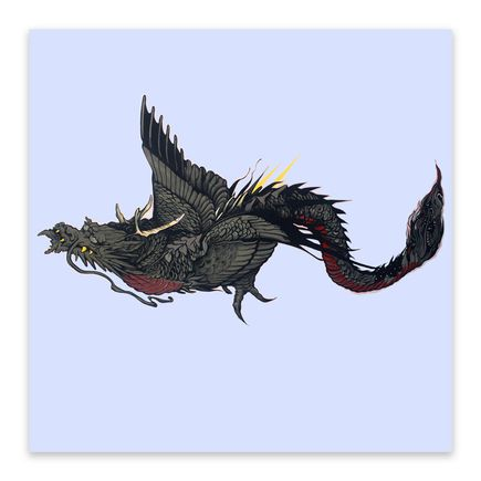 Jose Mertz Original Art - Flying Dragon