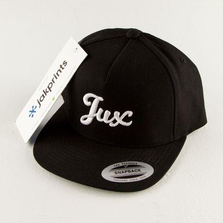 1xRUN Editions Art - Jux Script Logo - Black Snapback Hat