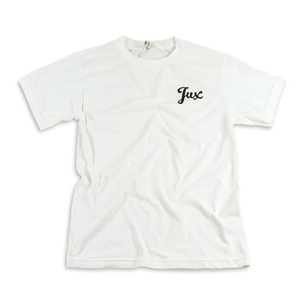 1xRUN Editions Art - XSmall - Jux Script Logo T-Shirt - Black on White