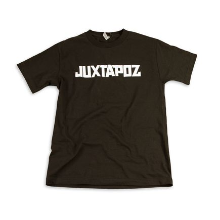 1xRUN Editions Art - XSmall - Juxtapoz Logo T-Shirt - White on Balck