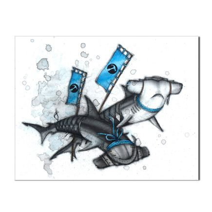 Kaitlin Beckett Original Art - Katana Sharks