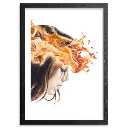 Kamea Hadar Art Print - Lei Ahi - Framed