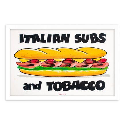 Kelly Golden Original Art - Italian Subs & Tobacco - Original Artwork