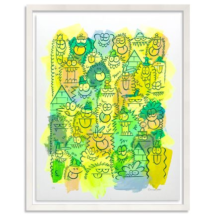 Kevin Lyons Original Art - Monster Party - Acrylic Abstract 1/4