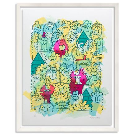 Kevin Lyons Original Art - Monster Party - Acrylic Abstract 3/4
