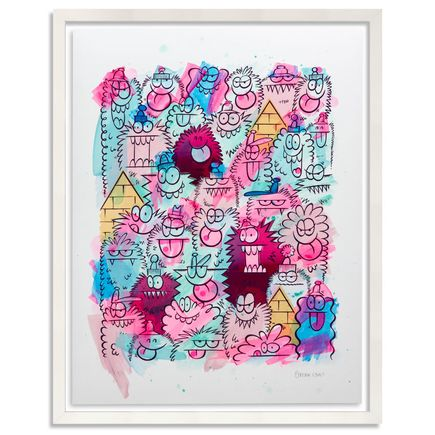 Kevin Lyons Original Art - Monster Party - Acrylic Abstract 4/4