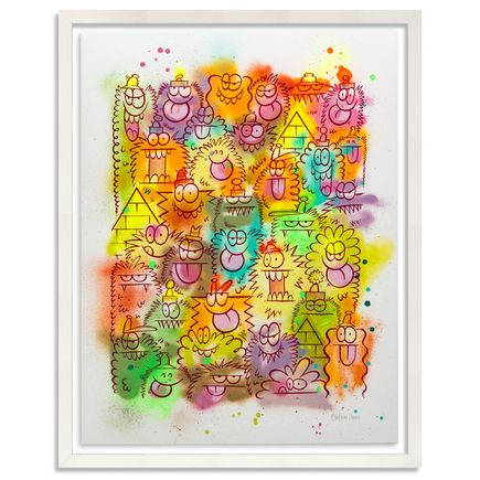 Kevin Lyons Original Art - Monster Party - Aerosol 1/4