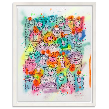 Kevin Lyons Original Art - Monster Party - Aerosol 2/4