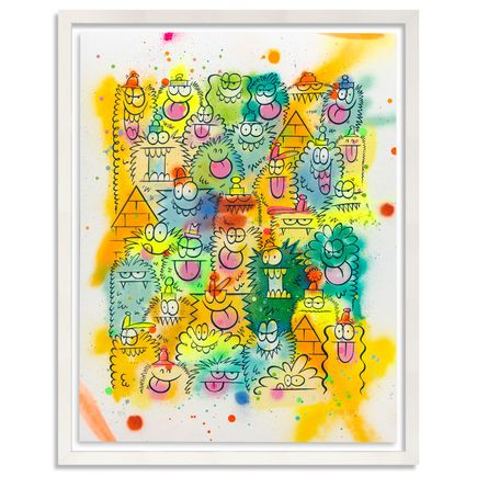 Kevin Lyons Original Art - Monster Party - Aerosol 3/4