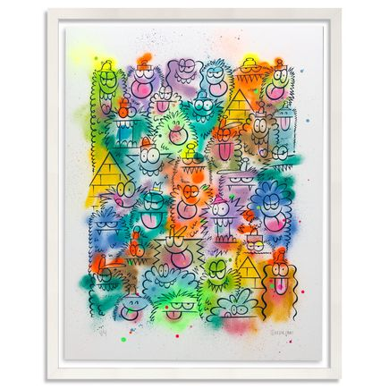 Kevin Lyons Original Art - Monster Party - Aerosol 4/4