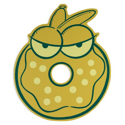 Kevin Lyons Hand-painted Multiple - Day Old Donut I - Green Variant