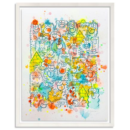 Kevin Lyons Original Art - Monster Party - Watercolor Drop 1/4