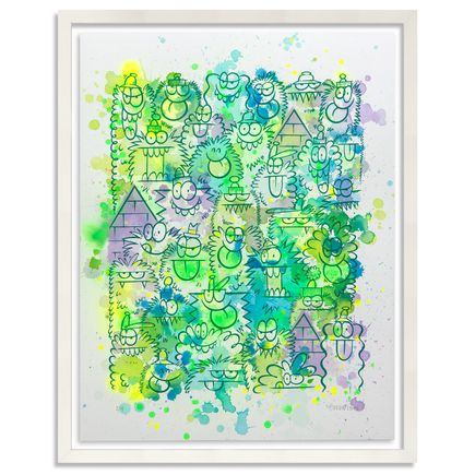 Kevin Lyons Original Art - Monster Party - Watercolor Drop 2/4