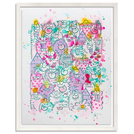Kevin Lyons Original Art - Monster Party - Watercolor Drop 3/4