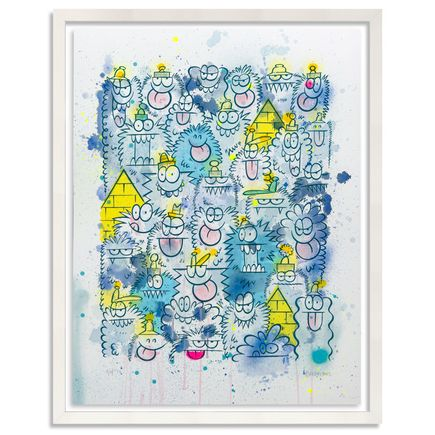 Kevin Lyons Original Art - Monster Party - Watercolor Drop 4/4