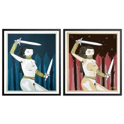 Kid Acne Art Print - 2-Print Set - Salient Sentinel - Blue + Pink Variant