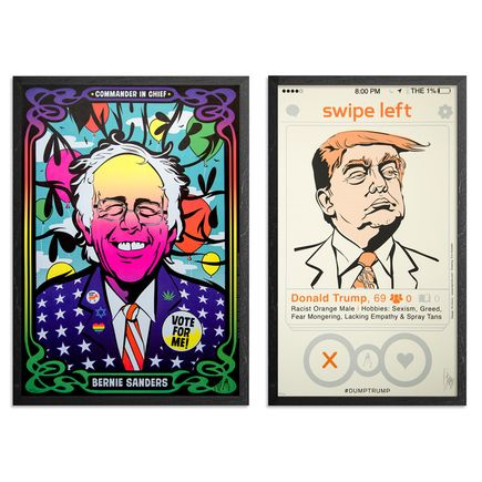 Kii Arens Art Print - Color The Bern + Swipe Left - 2-Print Set