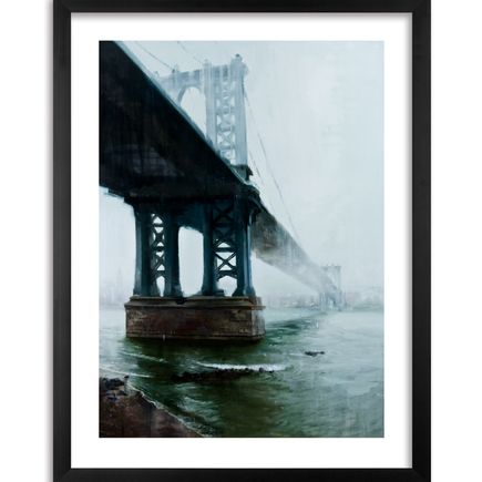 Kim Cogan Art Print - Manhattan Bridge with Fog