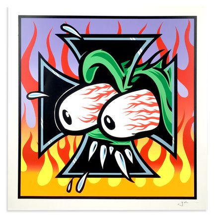 Kozik Art - Flaming Eyeball