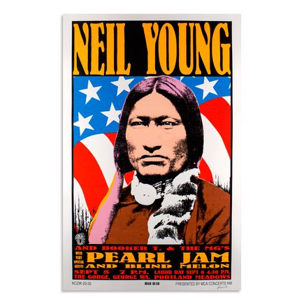 Kozik Art - Neil Young- September 5th & 6th, 1993 at The Gorge Amphitheater