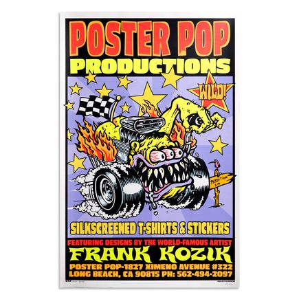 Frank Kozik Art Print - Poster Pop Productions - Long Beach - 1997