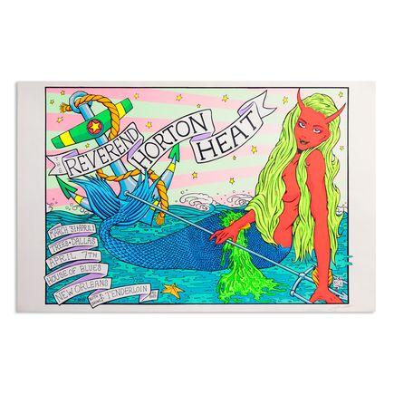 Frank Kozik Art Print - Reverend Horton Heat - Dallas - 1995