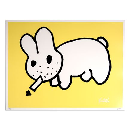 Kozik Art - Smokin' Labbit - Yellow
