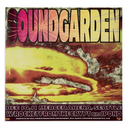 Kozik Art - Soundgarden - Dec. 10th and 11th, 1996 at Mercer Arena Seattle