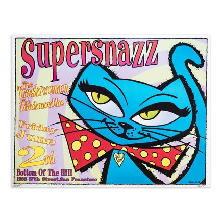 Kozik Art Print - Supersnazz Concert Poster - San Francisco - 1995
