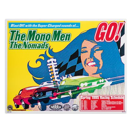 Kozik Art Print - The Mono Men - The Nomads - Tour Poster - 1995